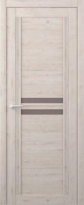 Дверь межкомнатная Вест Каролина крем бронзовое стекло