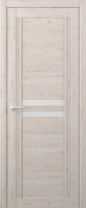 Дверь межкомнатная Вест Каролина крем белое стекло
