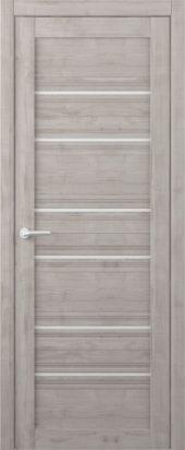 Дверь межкомнатная Вест Техас графит белое стекло