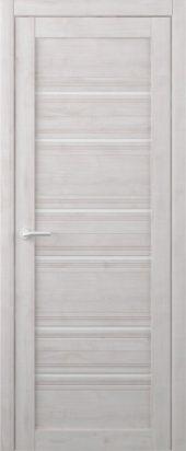 Дверь межкомнатная Вест Техас жемчуг белое стекло