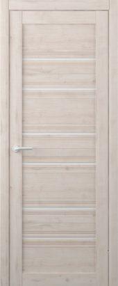 Дверь межкомнатная Вест Техас крем белое стекло