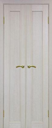Межкомнатная дверь парма 401 беленый дуб двухстворчатая
