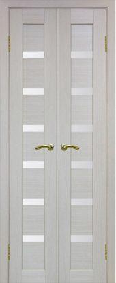 Двухстворчатая дверь Парма 407 белое стекло