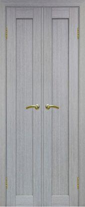 Межкомнатная дверь парма 401 дуб грей двухстворчатая