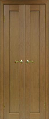 Межкомнатная дверь парма 401 орех двухстворчатая
