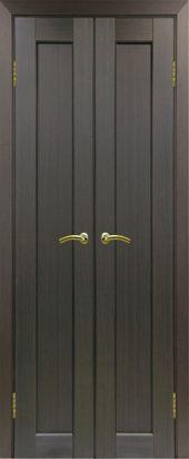Межкомнатная дверь парма 401 венге двухстворчатая