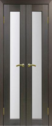Межкомнатная дверь парма 401 стекло венге двухстворчатая
