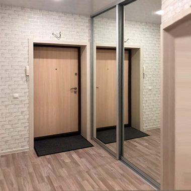 Входная дверь и зеркальные двери для шкафа